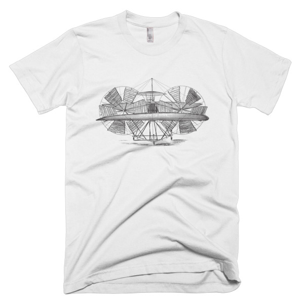 64779a42 Steampunk Flying Machine – Patent Sketch Men's T-shirt